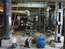 Electric motor water pump under repair at power plant Stock Photo
