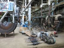 Electric motor water pump under repair at power plant Royalty Free Stock Photos