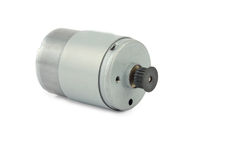 Electric motor on white Stock Image