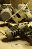 Electric motors discarded Stock Image