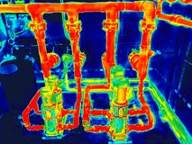 Electric motors for infrared image stock photos