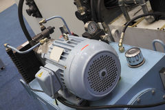 Electric motors for modern industrial equipment Stock Images