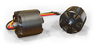 Electric motors for RC models Stock Photos