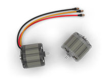 Electric motors for RC models Royalty Free Stock Photo