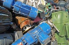 Electric motors scrap metal Royalty Free Stock Image