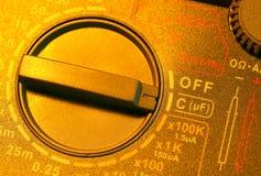 Electric multi meter stock image