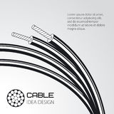 Electric multicore cable. Vector illustration Stock Photo