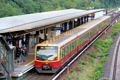 Electric multiple unit of Berlin S-Bahn Royalty Free Stock Photos