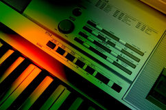 Electric Music. Electronic keyboard at full throttle with electrified music Royalty Free Stock Photos