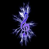 Electric music symbol Stock Images