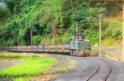 Electric narrow-gauge locomotive. Royalty Free Stock Image