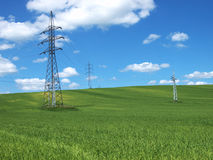 Electric and Nature. Photo taken in Slovakia - summer 2012 Stock Photo