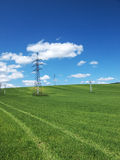 Electric and Nature. Photo taken in Slovakia - summer 2012 royalty free stock image