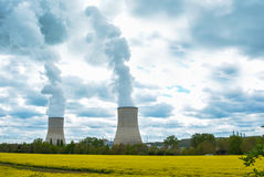 Electric and nuclear power royalty free stock photos