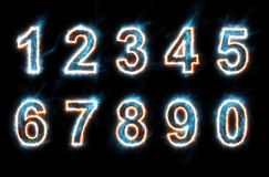 Electric numbers Royalty Free Stock Photo