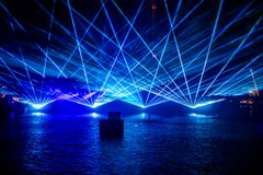 Free Electric Ocean Is Seasonal Firework Show On Seven Seas Lagoon Featuring Fireworks, Dancing Fountains, And Mist Screensa At Seaworl Stock Photo - 158181760