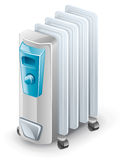 Electric oil heater Stock Photography