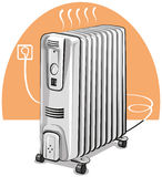 Electric oil heater Royalty Free Stock Photo