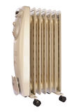 Electric oil heater with clipping path Royalty Free Stock Photo