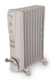 Electric oil heater (Clipping path) Stock Photo