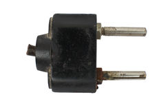 electric old plug Στοκ εικόνα με δικαίωμα ελεύθερης χρήσης