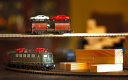 The Electric One. Miniature Trains Royalty Free Stock Photography