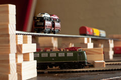 The Electric One II. Miniature Trains Stock Photography