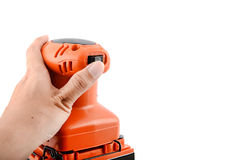 Electric orbital sander, construction equipment Stock Photography