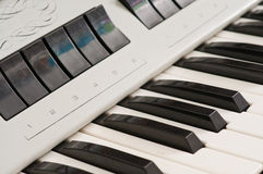 Electric organ keys. Stock Images