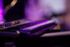 Electric organ on stage Royalty Free Stock Image
