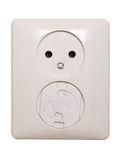 Electric outlet, 1 has a child safeguard Royalty Free Stock Images