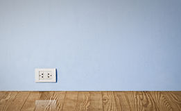 Electric Outlet In Old Wall. Stock Photos