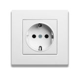 Electric outlet isolated on white background Royalty Free Stock Photo