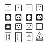 Electric outlet and plug icon Royalty Free Stock Image