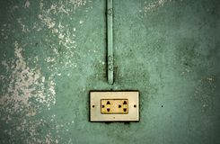 Electric outlet in a wal Stock Image