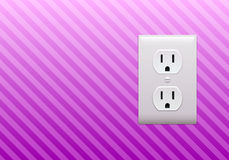 Electric outlet wallpaper Stock Photo