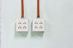 Electric outlets Stock Photos