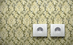 Electric outlets on wall Royalty Free Stock Photo