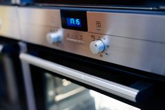 Electric oven control panel Royalty Free Stock Photo