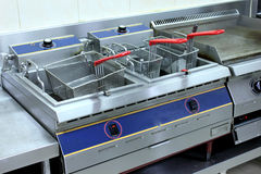 Electric oven fries Stock Photo