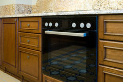 Electric oven in the kitchen Royalty Free Stock Photos