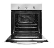Electric oven with open door Royalty Free Stock Image