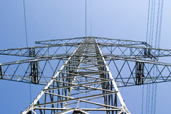 Electric overland power mast. Electric overland power lines and mast royalty free stock photos