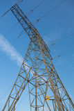 Electric overland power mast Stock Image