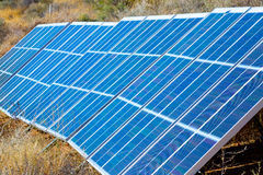 Electric panel solar power Royalty Free Stock Photography