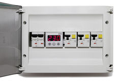 Electric panel Stock Image