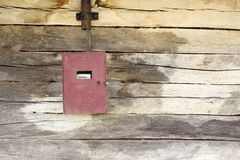 Electric panel on wooden building Royalty Free Stock Photos