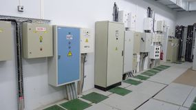 Electric panels Royalty Free Stock Images