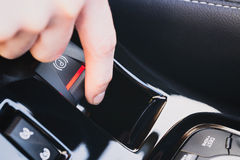Electric Parking Brake of a Car Royalty Free Stock Image