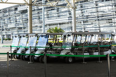 Electric parking for rent in Olympic Park in Sochi Stock Photo